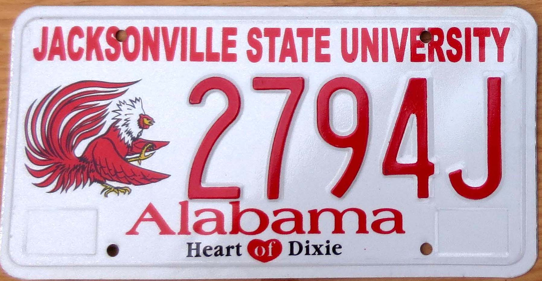 Jacksonville State University Photo License Plate