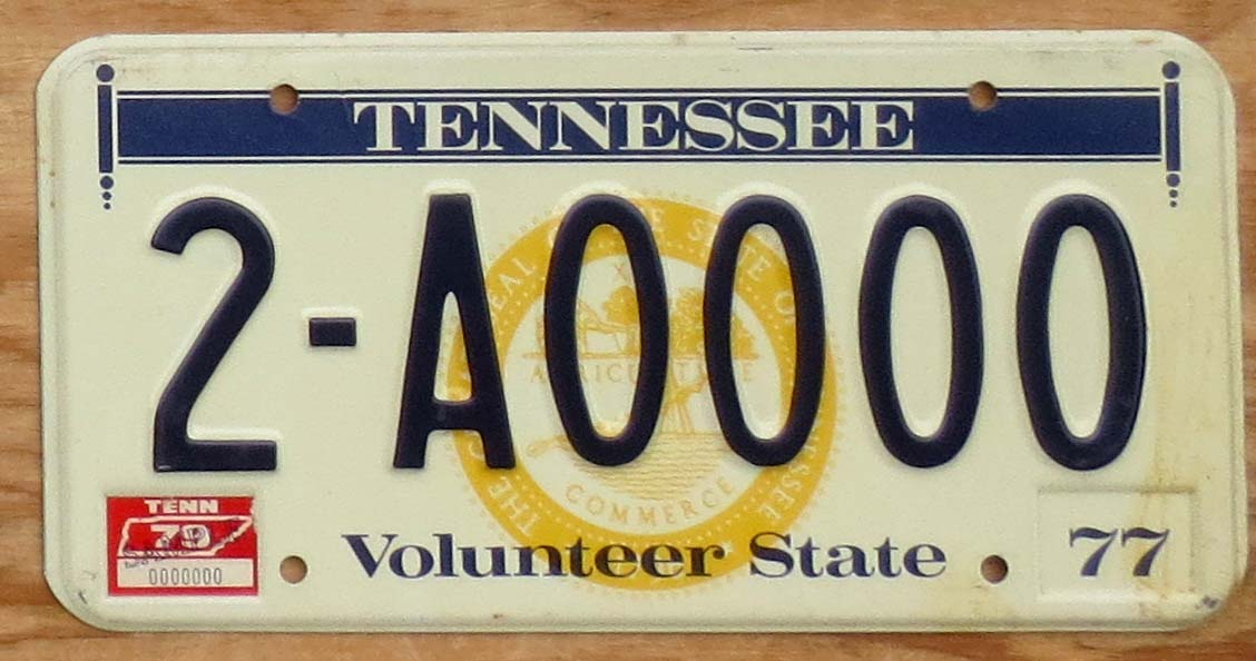 1979 Tennessee sample nearly mint | Automobile License Plate Store ...