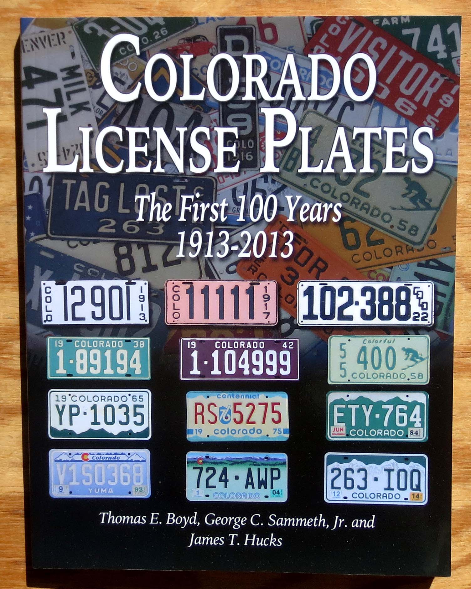 Colorado License Plate Book Automobile License Plate