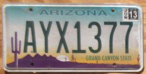 2013 Arizona Gvg Automobile License Plate Store